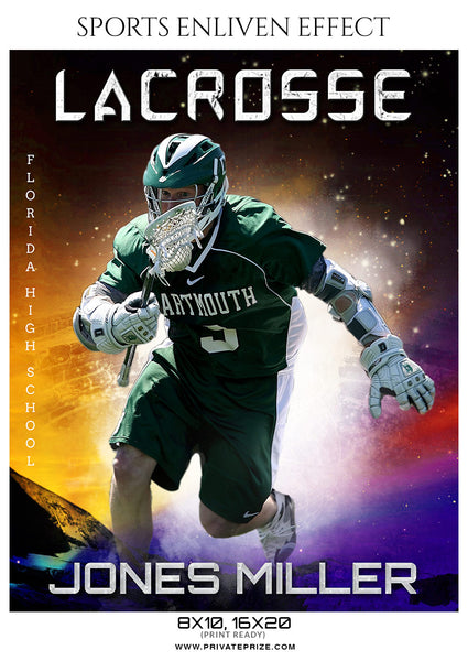 John Miller - Lacrosse Sports Enliven Effects Photoshop Template - Photography Photoshop Template