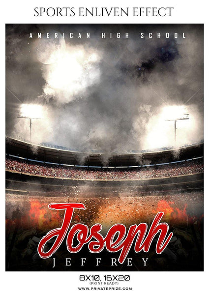 Joseph Jeffery - Baseball Sports Enliven Effect Photography Template