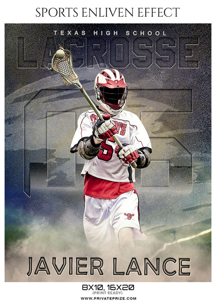 Javier Lance - Lacrosse Sports Enliven Effects Photography Template