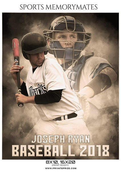 Joseph Ryan - Baseball Memory Mate Photography Template - Photography Photoshop Template