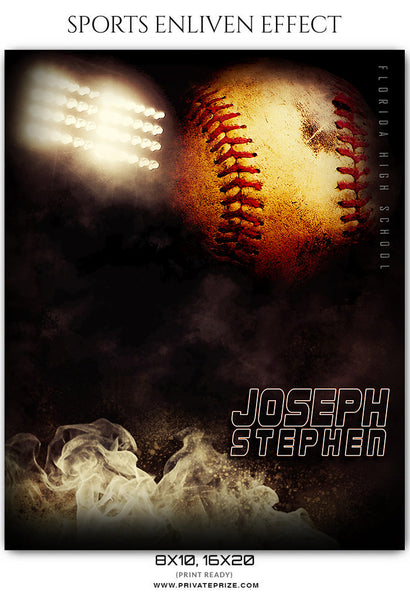 Joseph Stephen - Baseball Sports Enliven Effects Photography Template - Photography Photoshop Template