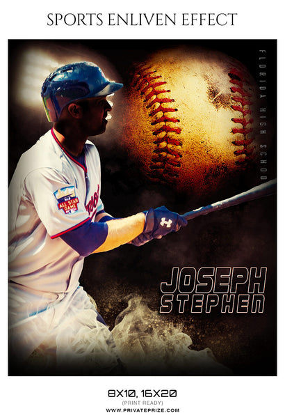 Joseph Stephen - Baseball Sports Enliven Effects Photography Template
