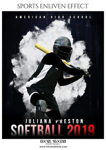 Juliana Preston - Softball Sports Enliven Effects Photography Template