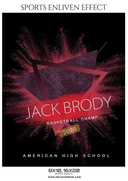 Jack Brody - Basketball Sports Enliven Effect Photography Template