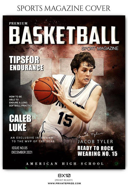 Jacob Tyler - Basketball Sports Photography Magazine Cover