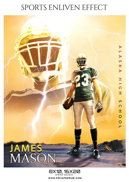 James Mason - Football Sports Enliven Effects Photography Template