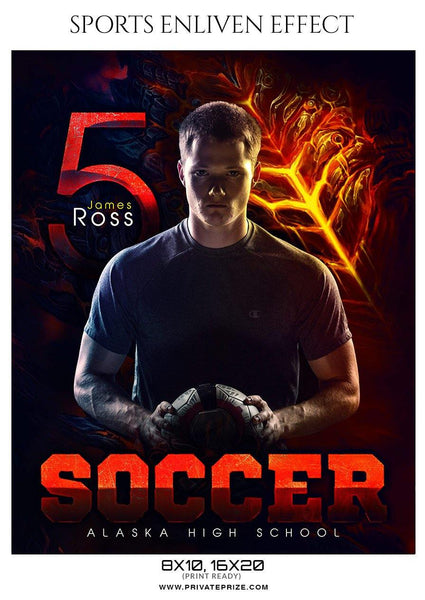 James Ross - Soccer Sports Enliven Effect Photography Template