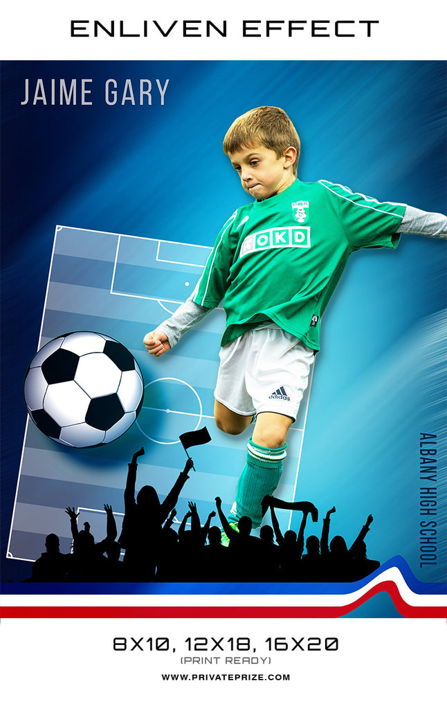 Jamie Albany High school Sports Template -  Enliven Effects - Photography Photoshop Templates