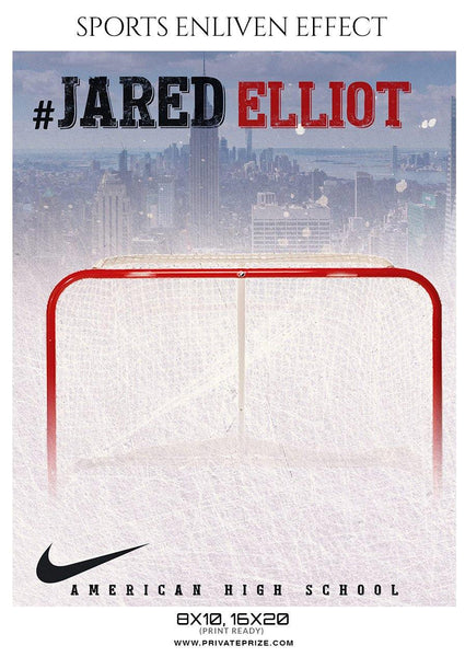 Jared Elliot - Ice Hockey Sports Enliven Effects Photography Template