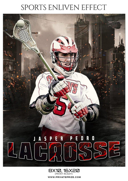 Jasper Pedro - Lacrosse Sports Enliven Effects Photography Template - Photography Photoshop Template