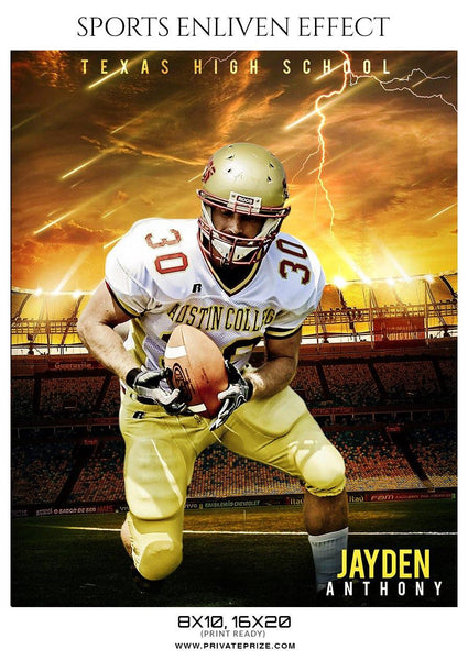 Jayden Anthony - Football Sports Enliven Effect Photography Template