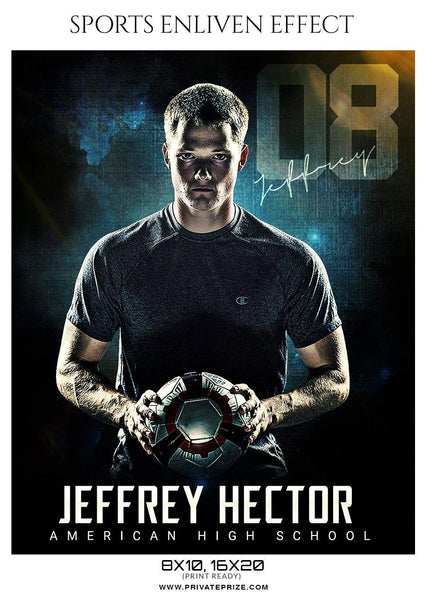 Jeffrey Hector - Soccer Sports Enliven Effect Photography Template