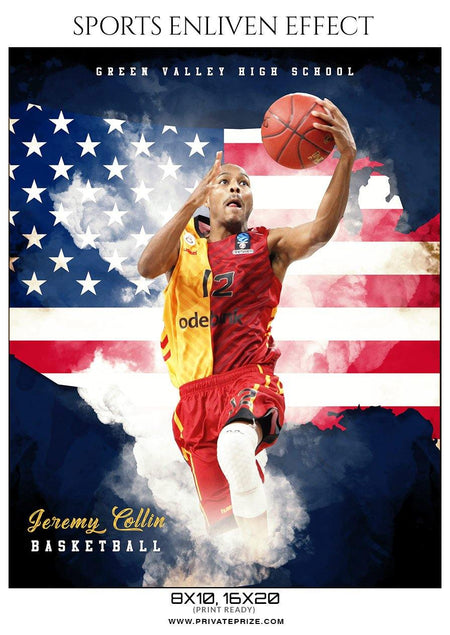 Jeremy Collin - Basketball Sports Enliven Effect Photography Template - Photography Photoshop Template