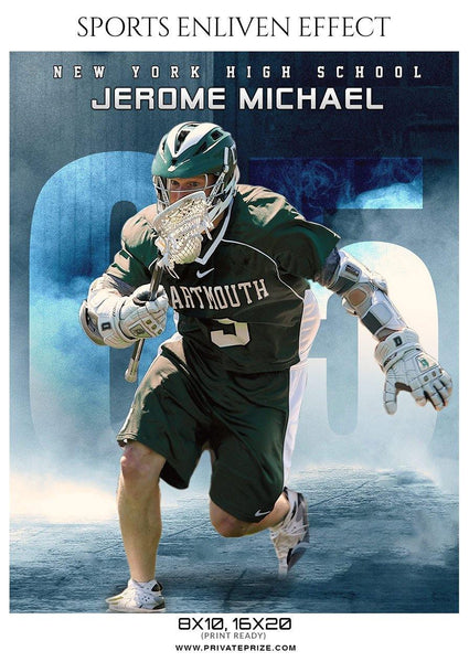 Jerome Michael - Lacrosse Sports Enliven Effects Photography Template