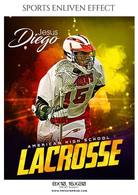 Jesus Diego - Lacrosse Sports Enliven Effects Photography Template - Photography Photoshop Template