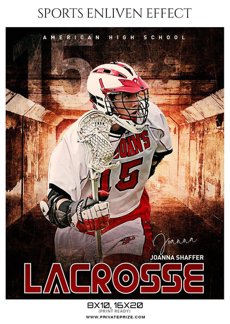 Joanna Shaffer - Lacrosse Sports Enliven Effects Photography Template - Photography Photoshop Template