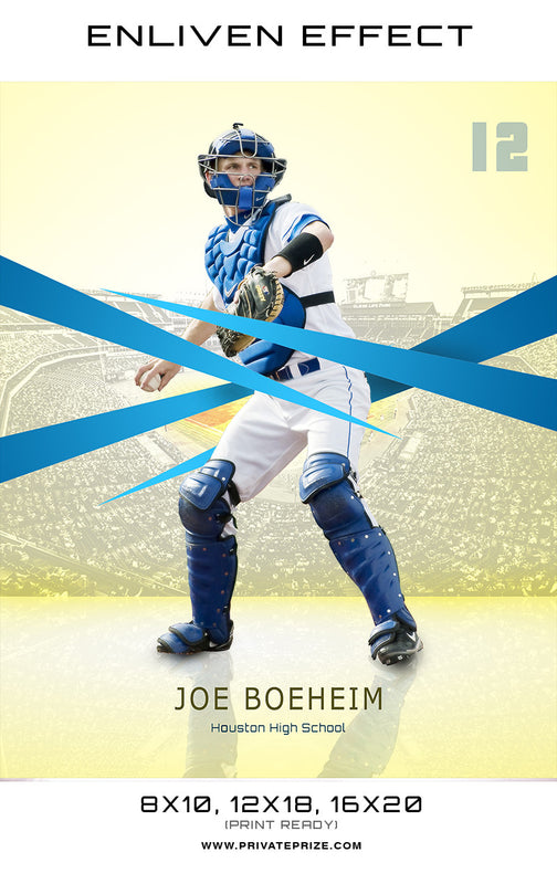 Joe Houston High School Sports Template -  Enliven Effects - Photography Photoshop Templates