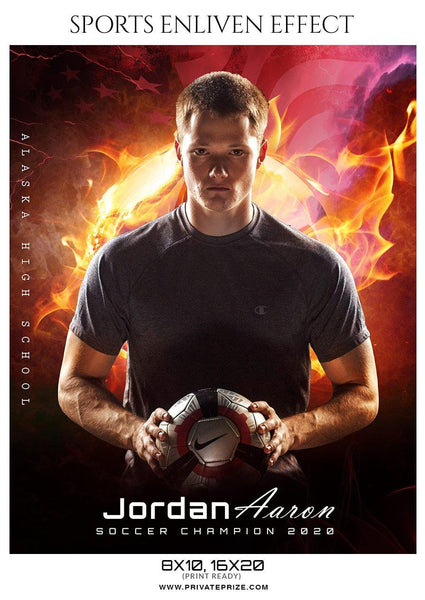 Jordan Aaron - Soccer Sports Enliven Effect Photography Template