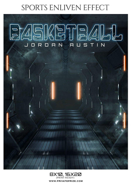 Jordan Austin - Basketball Sports Enliven Effect Photography Template - Photography Photoshop Template