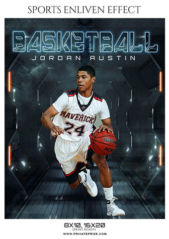 Jordan Austin - Basketball Sports Enliven Effect Photography Template