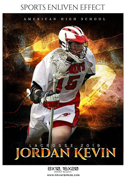Jordan Kevin - Lacrosse Sports Enliven Effects Photography Template