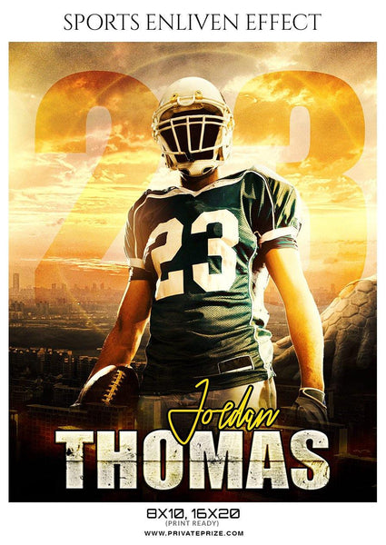Jordan Thomas - Football Sports Enliven Effect Photography Template