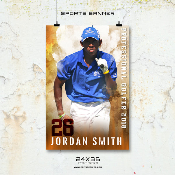 Jordan- Enliven Effects Sports Banner Photoshop Template - Photography Photoshop Templates