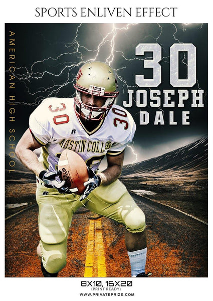 Joseph Dale - Football Sports Enliven Effect Photography Template
