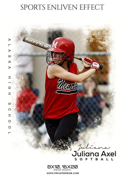 Juliana Axel - Softball Sports Enliven Effect Photography template