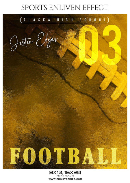 Justin Edgar - Football Sports Enliven Effect Photography Template