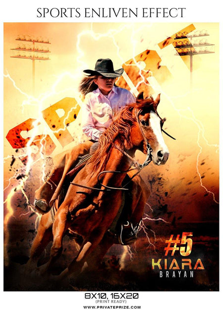 Kiara Brayan - Rodeo Sports Enliven Effects Photography Templates - Photography Photoshop Template