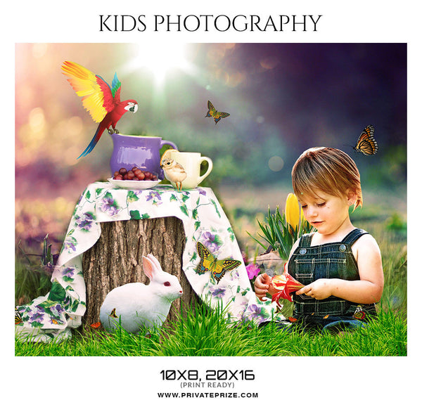 DAFFODIL- KIDS PHOTOGRAPHY - Photography Photoshop Template