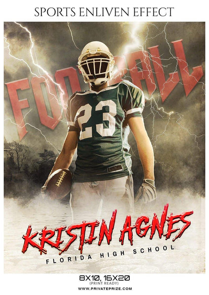 Kristin Agnes - Football Sports Enliven Effect Photography Template
