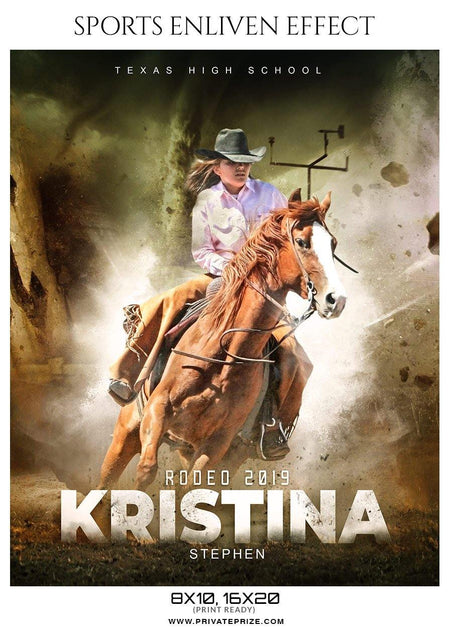 Kristina Stephen - Rodeo Sports Enliven Effects Photography Templates - Photography Photoshop Template