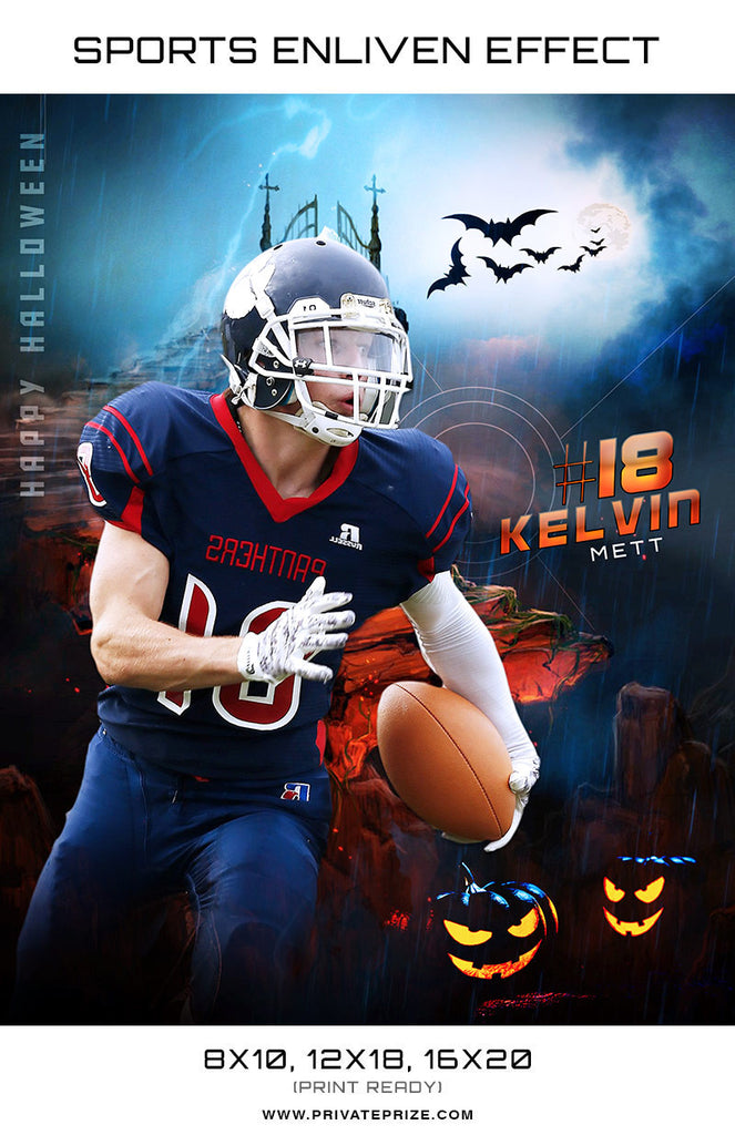 Kelvin Sports Halloween Template -  Enliven Effects - Photography Photoshop Templates