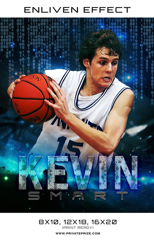 Kevin Smart Basketball Sports Template -  Enliven Effects - Photography Photoshop Template