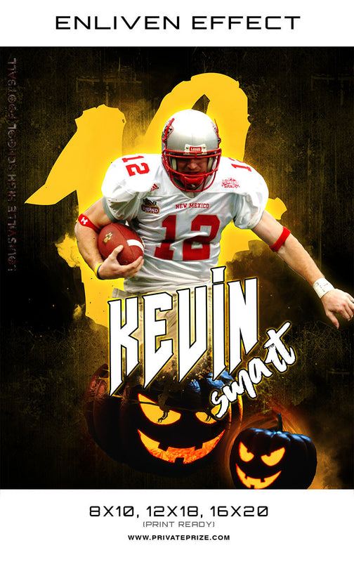Kevin Smart Football Halloween Template -  Enliven Effects - Photography Photoshop Template