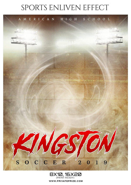 Kingston - Soccer Sports Enliven Effects Photography Template