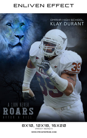 Klay Football - Lion Never Roar Sports Template -  Enliven Effects