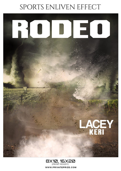 LACEY KERI-RODEO - SPORTS ENLIVEN EFFECT - Photography Photoshop Template
