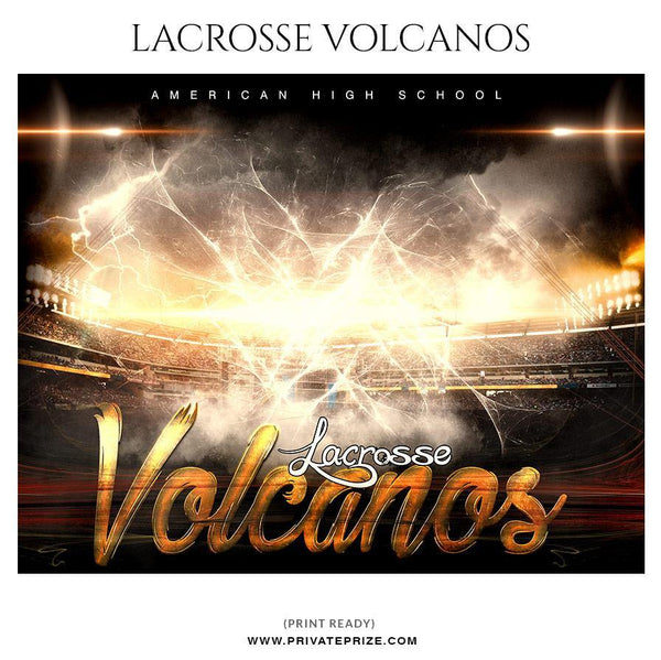 Volacnos - Lacrosse Themed Sports Photography Template