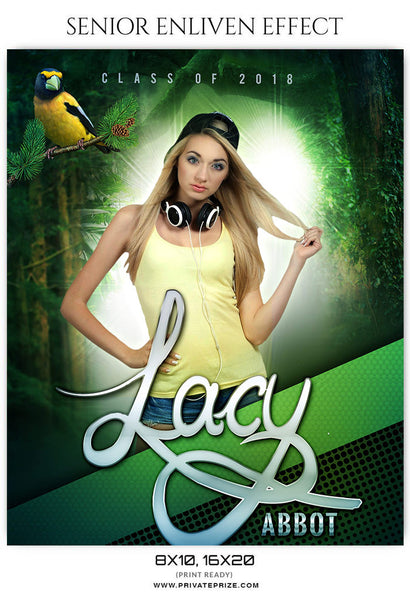 LACY ABBOT - SENIOR ENLIVEN EFFECT - Photography Photoshop Template