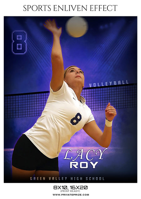 LACY ROY-VOLLEYBALL SPORTS TEMPLATE- ENLIVEN EFFECTS - Photography Photoshop Template
