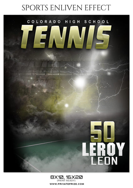LEROY LEON TENNIS - SPORTS ENLIVEN EFFECT - Photography Photoshop Template