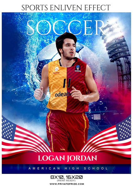Logan Jordan - Soccer Sports Enliven Effects Photography Template