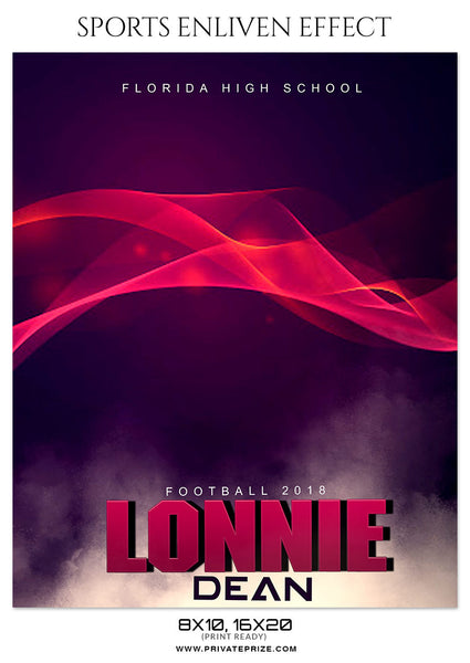 LONNIE DEAN FOOTBALL- SPORTS ENLIVEN EFFECT - Photography Photoshop Template