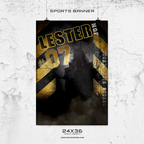 LESTER JON - 24X36 -Basketball-Enliven Effects Sports Banner Photoshop Template - Photography Photoshop Template
