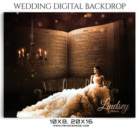 Lindsey Melvin Wedding Digital Backdrop - Photography Photoshop Template