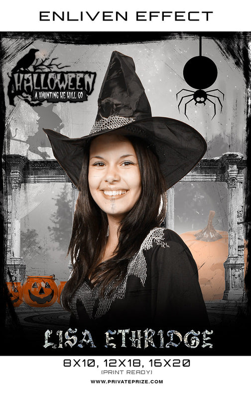 Lisa Halloween Template -  Enliven Effects - Photography Photoshop Templates