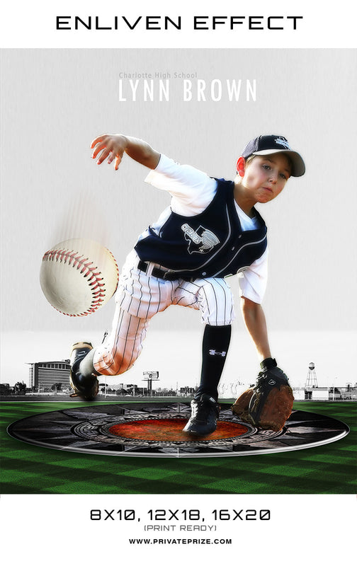 Lynn Charlotte High School Sports Template -  Enliven Effects - Photography Photoshop Templates